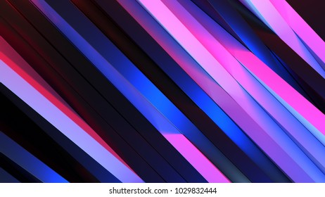 Abstract colorful panels structure, 3d illustration