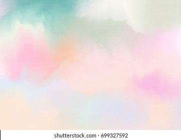 Abstract colorful pastel watercolor with copy space for place your design or invitation card, web background, cell phone case. Digital art painting.