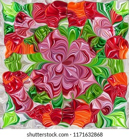 Abstract colorful pattern for Christmas packaging gift card.