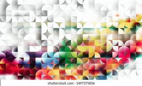 Abstract Colorful Quarter Circles Background Image