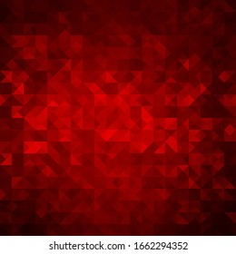 Abstract colorful red background with triangles. Shiny geometric mosaic