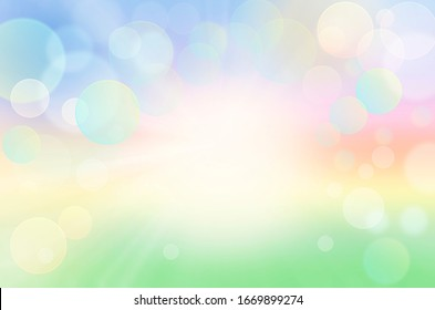 Abstract Colorful Spring Summer Nature Background