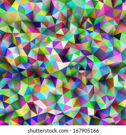 Abstract Colorful Triangles Background. Illustration
