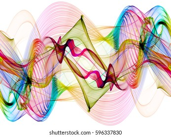 abstract colorful twisted net web waves