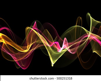 abstract colorful twisted waves