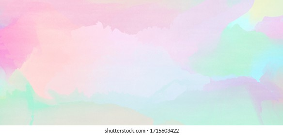 Abstract colorful watercolor for background. Pastel mesh background