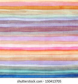 Abstract colorful watercolor striped background