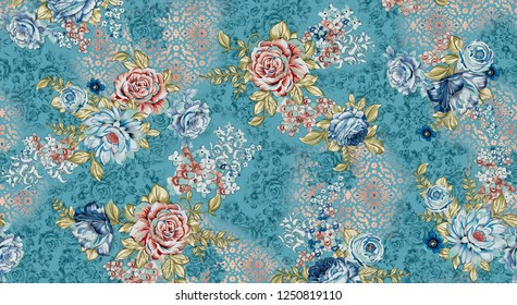Abstract colorfull pattern With rama   background