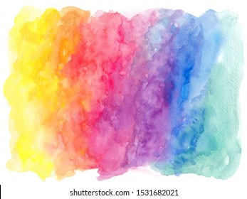 Abstract Colorfull Watercolor Background Texture