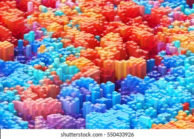 Abstract colourful background. 3D illustration.