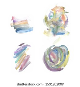 Abstract Colourful Watercolour textures and background - This is a fine art water-colour based textures for both online/physical medias such as website resources, graphics, print designs, fashion