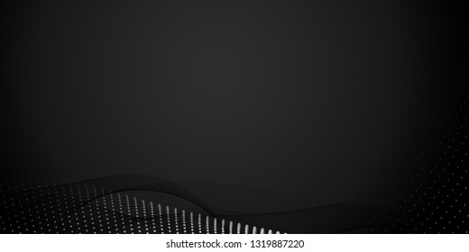 Abstract, Computer generated gray background, copy space banner.