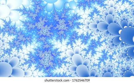Abstract computer generated meditative colorful abstract patterned fractal background