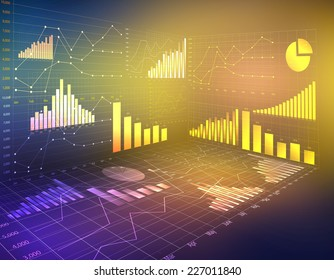 abstract computer graphics business financial statistics currency
