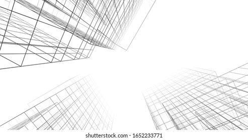 abstract concept architecture 3d illustration