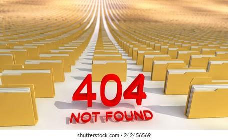 Abstract, concept. Error 404.