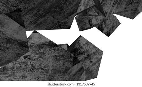 Abstract concrete background. Architecture design 3d illustration