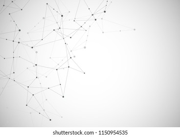 Abstract connecting dots and lines. Connection science and technology background