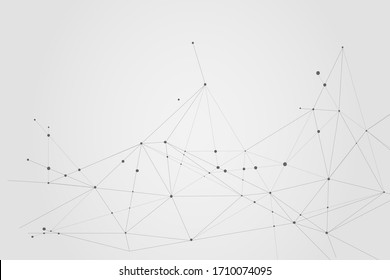 Abstract connecting dots, Polygonal background, technology connection digital and big data concept, illustrator