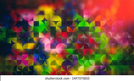 Abstract Cool Quarter Circles Background Image