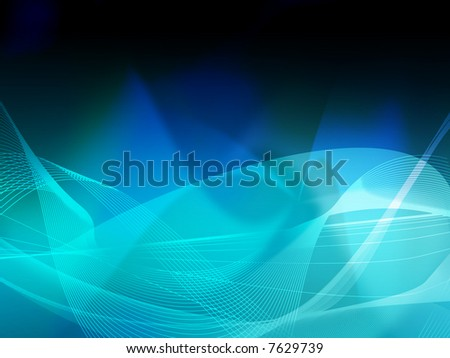 Abstract Cool Waves Background Texture Stock Illustration
