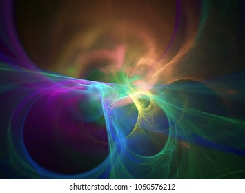 Abstract Cosmic rendered fractal background