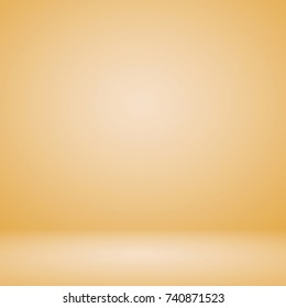 Abstract cream beige with gold gradient background empty room space used for display product ad web template