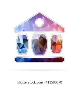 Abstract Creative concept icon of the exchange building for Web and Mobile Applications isolated on background. illustration template design, Business infographic and social media.