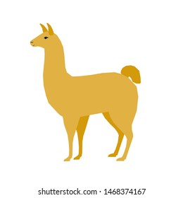 Abstract cute paper cut llama pattern. Childish crafted llama for design birthday card, veterinarian clinic poster, pet shop sale advertising, bag print etc. Raster copy
