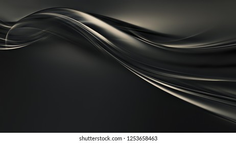 Abstract dark background with flowing wavy lines