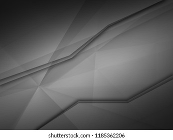 Abstract dark background with geometric graphic element
