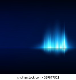 Abstract dark background with shiny light lines