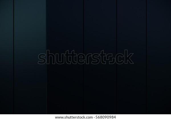 Abstract dark blue grid with glossiness and reflection background. 3d rendering
