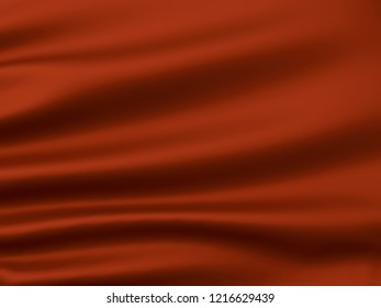 Abstract Dark Chocolate Background. Beautiful Satin Fabric for Drapery Abstract Texture. Brown Silk. 3d rendering.