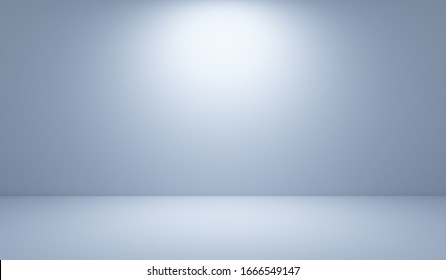 Abstract dark grey with white gradient background wallpaper empty studio room used for display product ad website template, 3d illustration