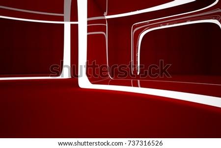 Abstract dark interior multilevel public space stockillustration