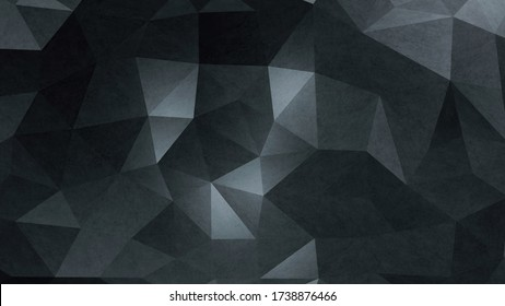 Abstract Dark Minimalist Geometric Background - 3D rendering