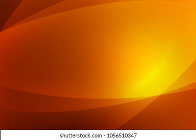 Abstract dark orange and yellow background of abstrack with curves wave line overlay. Orange light line curves effect abstract background style.