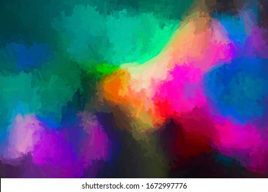 Abstract decoration color digital creative style