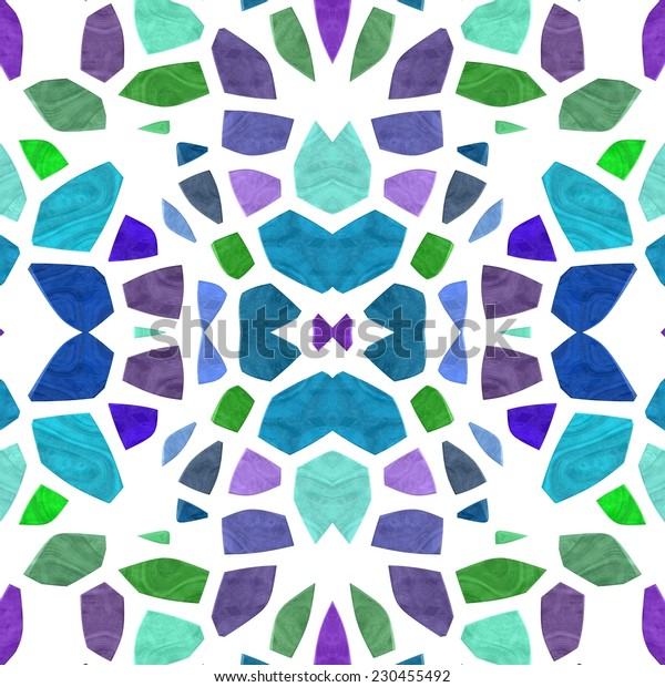 Abstract decorative floral mosaic pattern