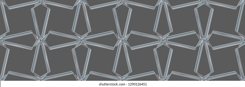 Abstract decorative vintage texture. Illustration for design. geometric seamless pattern. The background image.Modern solution for finishing the rooms with metal mosaics. Popular trend