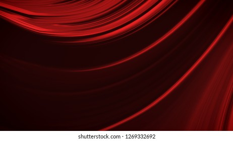 Abstract deep red background with waves luxury. 3d illustration, 3d rendering.