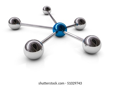 Abstract demonstration of network and communication - 3D rendering