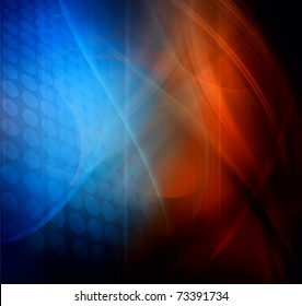 Abstract design, blue and red color, background