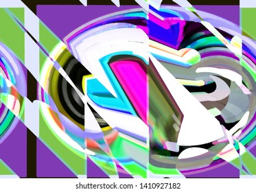 Abstract design with elements of art