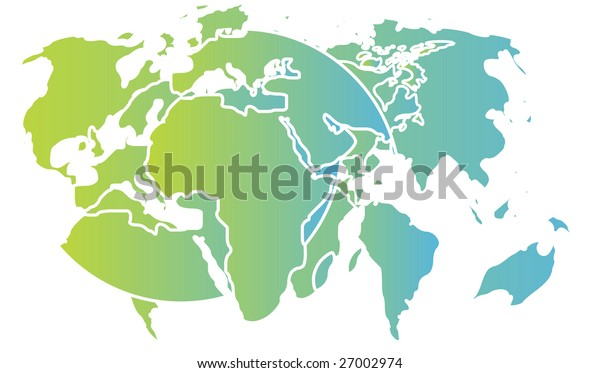 Abstract design of international maps and globe