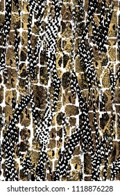 An abstract design that transforms an animal skin