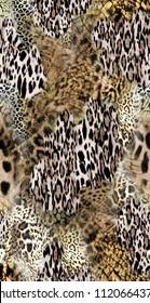 Abstract design using animal skin