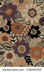 Abstract design using geometry and floral motif