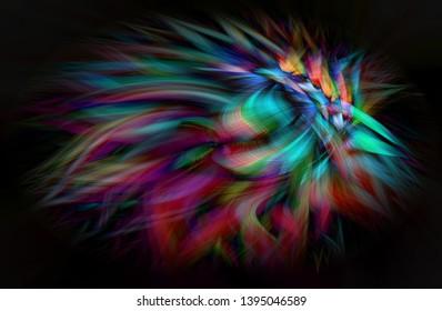 Abstract digital art.  Futuristic fractal world illusration. Texuture, ornament, decor, tracery